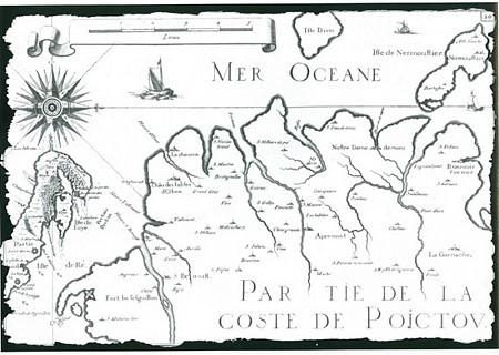 Carte historique du Pays de Monts