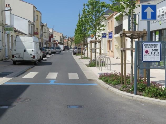 Le centre-ville de Saint-Jean-de-Monts modernisé et stationnement zone bleue