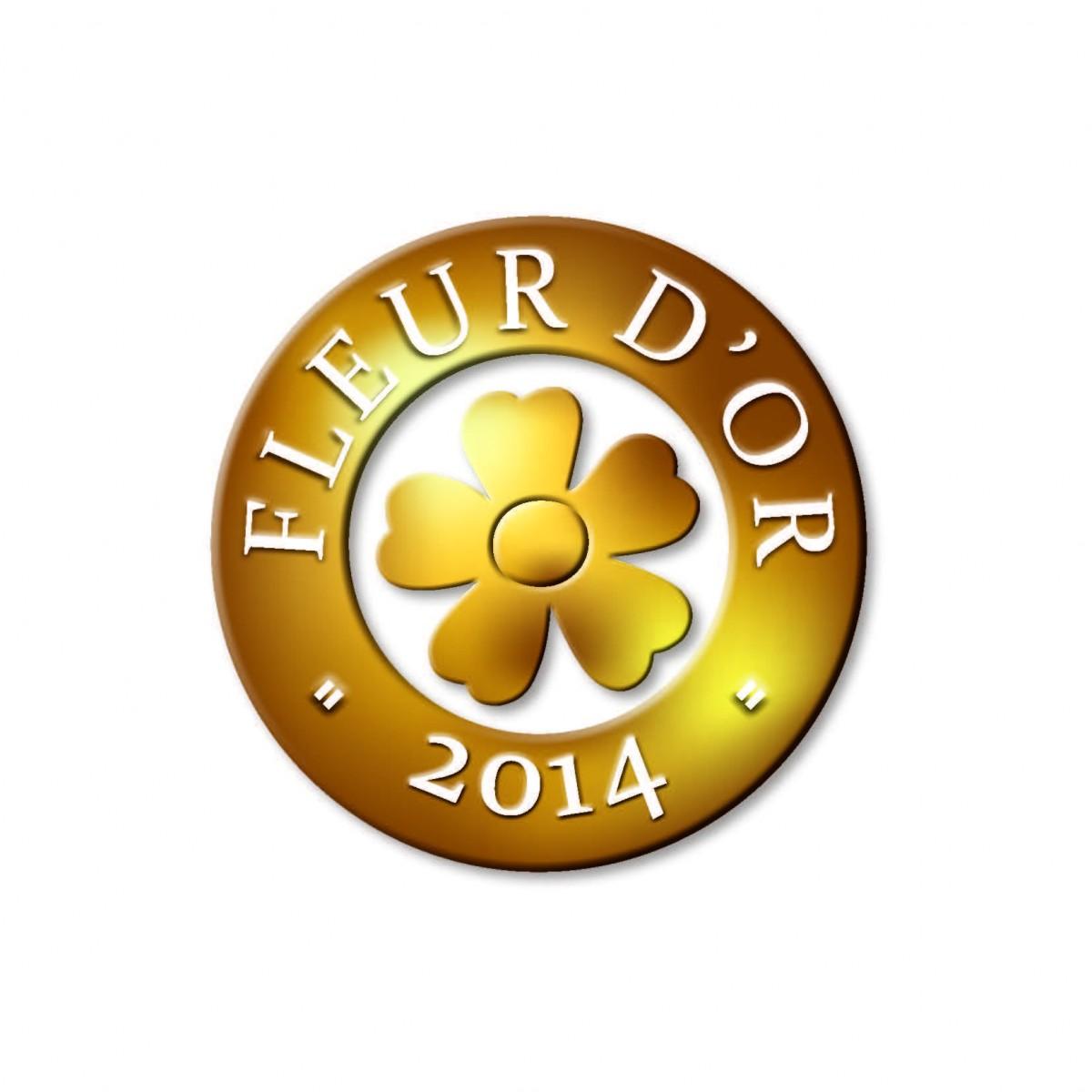 Logo Fleur d'Or 2014 obtenu par Saint-Jean-de-Monts
