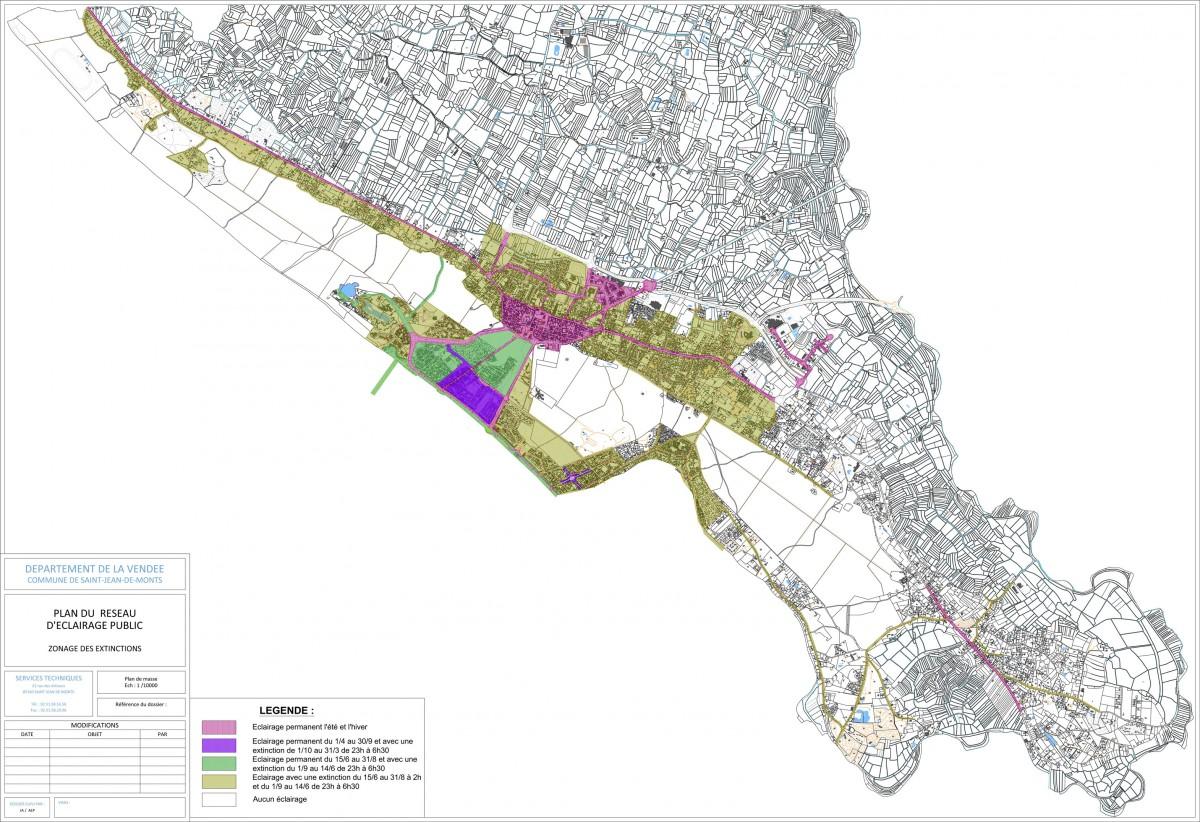 Zonage de l'éclairage public de Saint-Jean-de-Monts