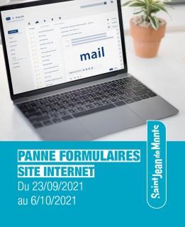 Panne Formulaires Site Internet
